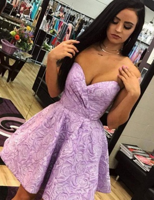 Stylish Hot Quinceanera Romantic Sweetheart Sleeveless Short Sweet 16 Dama Dress_1
