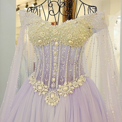 Exquisite Sweetheart Sleeveless Beading Long Quinceanera Dress_3