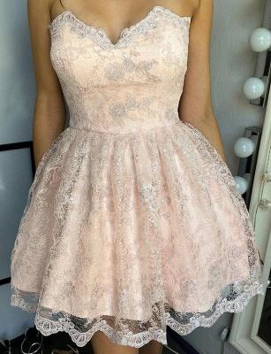 Unique Appliques Quinceanera Lace Romantic Sweetheart Lace-up Dama Dress_1
