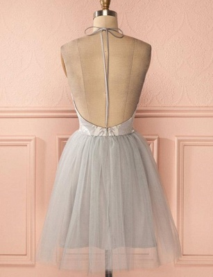 Glamorous Halter Tulle Quinceanera Appliques Backless Dama Dress_3