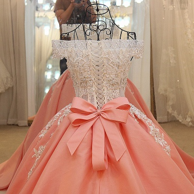 Off-the-shoulder Beading Ball Gown Quinceanera Dresses with Sash_3