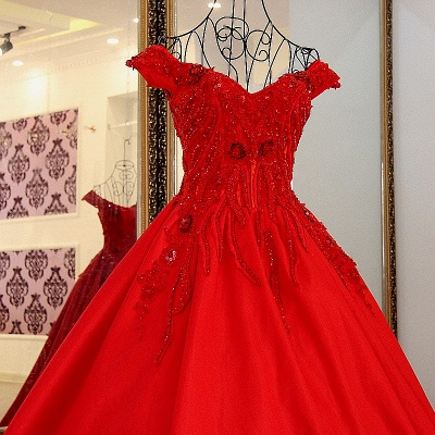 Exquisite Off-the-Shoulder Sleeveless Quinceanera Dress_4