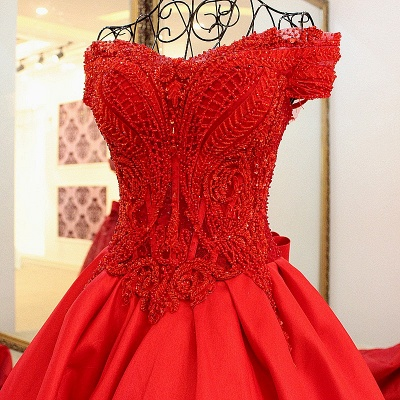 Exquisite Sweetheart Sleeveless Pearls Quinceanera Dress_1