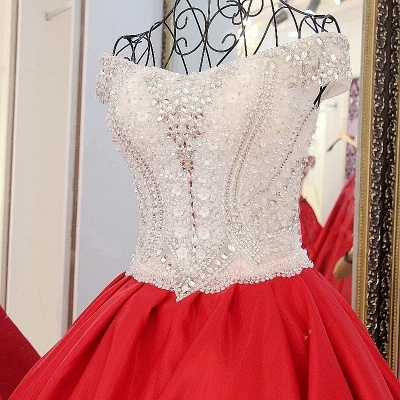 Luxury Off-the-Shoulder Beading Quinceanera Dress_4