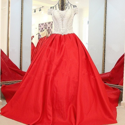 Luxury Off-the-Shoulder Beading Quinceanera Dress_1