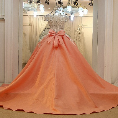 Off-the-shoulder Beading Ball Gown Quinceanera Dresses with Sash_2