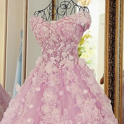 vestido largo de quincea_era | Princesa sin mangas de tul rosa_2