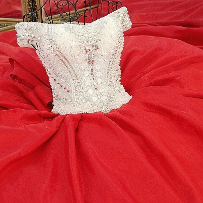 Luxury Off-the-Shoulder Beading Quinceanera Dress_5
