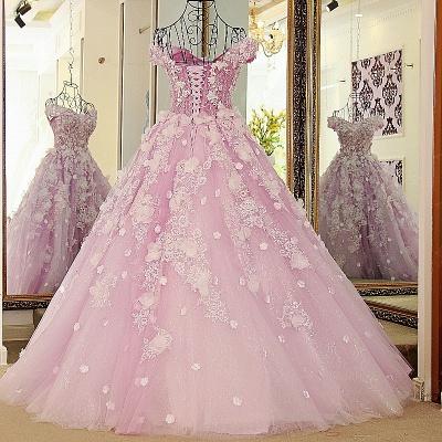 vestido largo de quincea_era | Princesa sin mangas de tul rosa_3