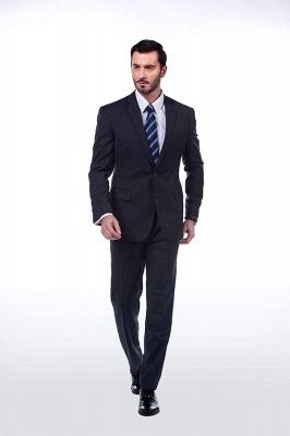 Lujo Premium gris a cuadros traje personalizado para hombres | Traje popular de la boda de los padrinos de boda de la solapa del pico_2