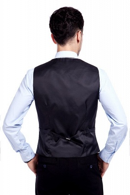 Black Single Breasted 3 Piece Business Suit for Men | High-end Peak Lapel Customized Tuxedos for my Quince_7