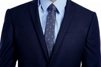 Traje de bolsillo azul marino con muesca con solapa 3 para hombres | El nuevo traje de padrino de boda para mujer_5