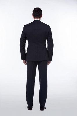 Lujo Premium gris a cuadros traje personalizado para hombres | Traje popular de la boda de los padrinos de boda de la solapa del pico_3