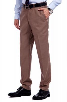 Traje de negocios a medida con solapa de pecho cruzado marrón claro | Traje de hombre de moda 2019 de alta calidad con 3 bolsillos_8