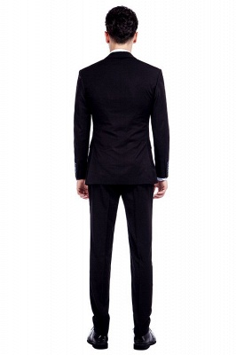 Black Single Breasted 3 Piece Business Suit for Men | High-end Peak Lapel Customized Tuxedos for my Quince_5
