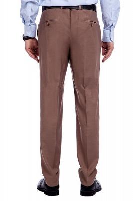 Traje de negocios a medida con solapa de pecho cruzado marrón claro | Traje de hombre de moda 2019 de alta calidad con 3 bolsillos_9