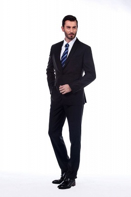 Classic Black Three Pocket Customized Tuxedos for my Quince  | Latest Design Two Button Peak Lapel Chambelanes Tuxedos_3
