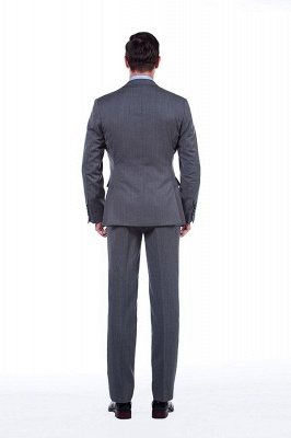 Single Breasted Notched Lapel Classic Suit | New Design 2 Pieces Two Button Slim Fit Chambelanes Tuxedos_4
