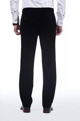 Cuello de terciopelo negro traje premium personalizado para hombre | El último traje de boda del novio del botón del dise_o uno_9