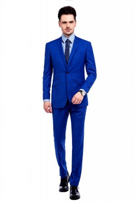 Premium Royal Blue Single Breasted Custom Suit | Peak Lapel Two Buttons Casual Suit Chambelanes_1