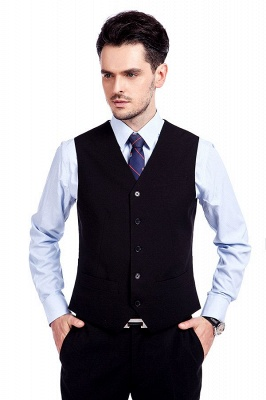 Black Single Breasted 3 Piece Business Suit for Men | High-end Peak Lapel Customized Tuxedos for my Quince_6