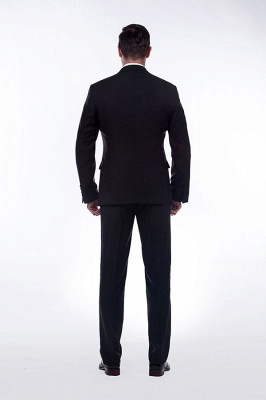 Classic Black Three Pocket Customized Tuxedos for my Quince  | Latest Design Two Button Peak Lapel Chambelanes Tuxedos_4
