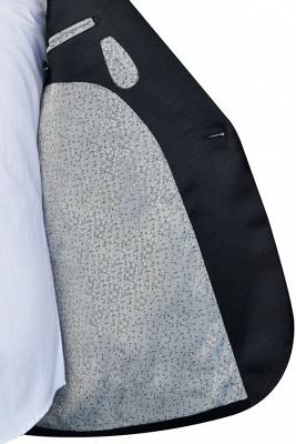 Recién negro traje de chaquetas de jacquard con cuadrados peque_o traje a medida | Traje de Boda _nico con Botones Un Solo Pecho para Novio_5