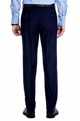 Traje de bolsillo azul marino con muesca con solapa 3 para hombres | El nuevo traje de padrino de boda para mujer_10