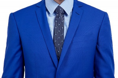 Premium Royal Blue Single Breasted Custom Suit | Peak Lapel Two Buttons Casual Suit Chambelanes_6
