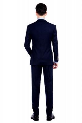 Traje de bolsillo azul marino con muesca con solapa 3 para hombres | El nuevo traje de padrino de boda para mujer_4