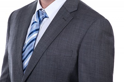 New Dark Grey Windows Slim Fit Custom Suits For Man | Customize Single Breasted Peak Lapel Chambelanes_5