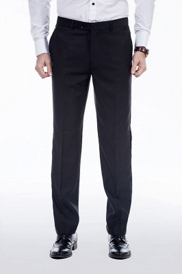 Popular Solid Black Stain Designs Fit Suit | Three Pockets Peaked Lapel Quinceanera Tuxedos_8