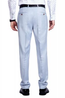 la solapa enarbolada por encargo Traje a medida azul claro | Tres bolsillos trajes de novio de boda de pecho único_9