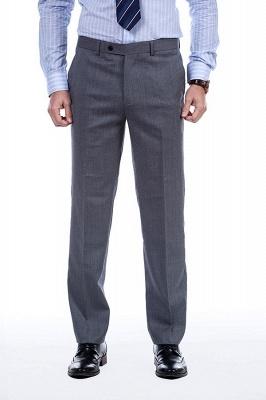 Nuevo dise_o de dos botones de un solo pecho traje personalizado | Alta calidad 2 piezas gris pico solapa novio_8