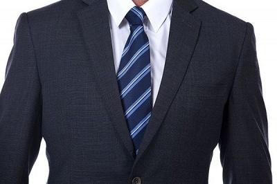 Lujo Premium gris a cuadros traje personalizado para hombres | Traje popular de la boda de los padrinos de boda de la solapa del pico_4