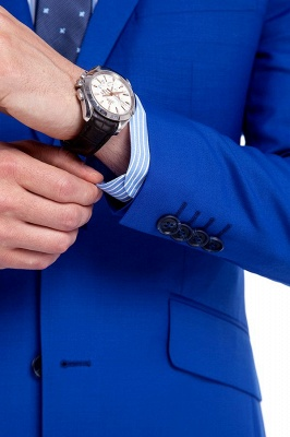 Premium Royal Blue Single Breasted Custom Suit | Peak Lapel Two Buttons Casual Suit Chambelanes_9