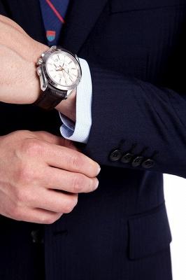 Azul marino traje de hombre de negocios a medida   Traje a medida de 3 bolsillos de un solo pecho para hombres_7
