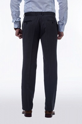 Double Breasted Stripe Tailoring Suit | Fashion Peak Lapel 3 Pockets Chambelanes Tuxedos For Men_8