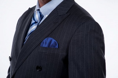 Double Breasted Stripe Tailoring Suit | Fashion Peak Lapel 3 Pockets Chambelanes Tuxedos For Men_5