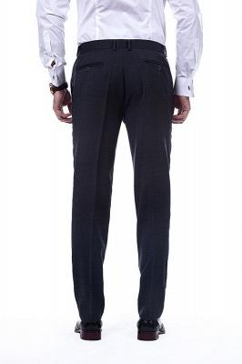 Lujo Premium gris a cuadros traje personalizado para hombres | Traje popular de la boda de los padrinos de boda de la solapa del pico_8