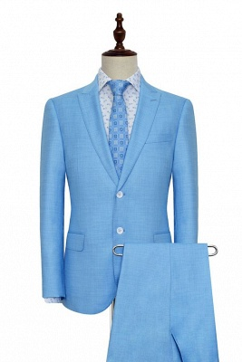New Arrival Pool Two Button Casual Customized Tuxedos for my Quince  For Men | High Quality Peaked Lapel 2 Pockets Hand Made Wool Suit_1