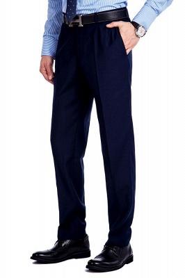 Traje de bolsillo azul marino con muesca con solapa 3 para hombres | El nuevo traje de padrino de boda para mujer_9