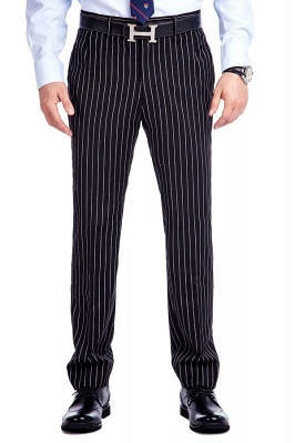 Tailor Hand Made White Stripes Business Suit for Men | Latest Design Peak Lapel Single Breasted Slim Fit Suit_7