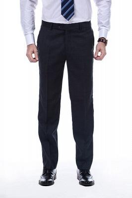 Lujo Premium gris a cuadros traje personalizado para hombres | Traje popular de la boda de los padrinos de boda de la solapa del pico_7