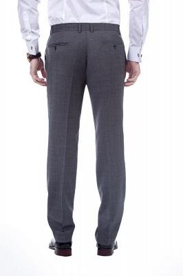 New Dark Grey Windows Slim Fit Custom Suits For Man | Customize Single Breasted Peak Lapel Chambelanes_8