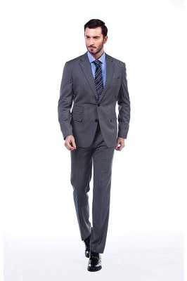 Single Breasted Notched Lapel Classic Suit | New Design 2 Pieces Two Button Slim Fit Chambelanes Tuxedos_3