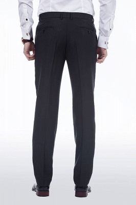 Popular Solid Black Stain Designs Fit Suit | Three Pockets Peaked Lapel Quinceanera Tuxedos_9