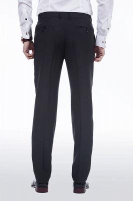 Sólidas populares trajes de novio de boda | Tres bolsillos de solapa pico manchas negras_9