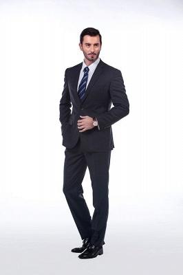 Lujo Premium gris a cuadros traje personalizado para hombres | Traje popular de la boda de los padrinos de boda de la solapa del pico_1