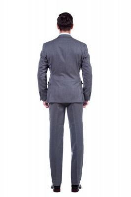 Nuevo dise_o de dos botones de un solo pecho traje personalizado | Alta calidad 2 piezas gris pico solapa novio_4